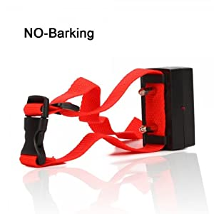 Ortz® Dog Shock Bark Collar - Adjustable for Pet Training - Control Your Dog Bark - Made for Big & Small Dogs - Electric Vibration Shock - Best Quality & Durable - Red Nylon Electric Anti Bark