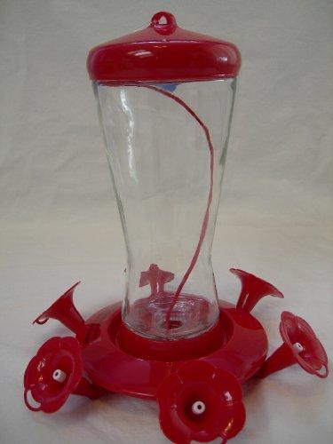 Cedar Works And Mainstays 28 Ounce Glass Hummingbird Feeder