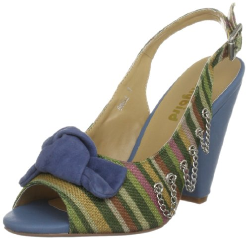 Dollybird Women's Bangle Blue/Green Stripe Open Toe Dbs12001 8 UK
