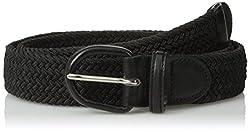 Luxury Divas Black Braided Elastic Stretch Belt Size XX-Large