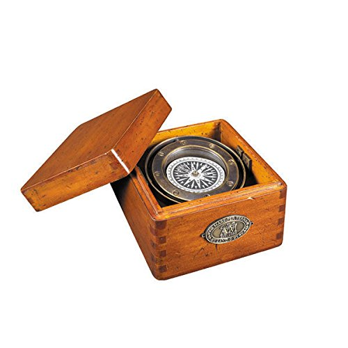 Lifeboat Compass in French Wood