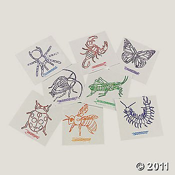 8 Insects Rubbing Plates Set