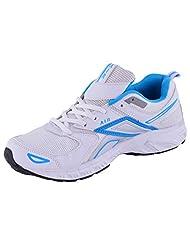 99 Moves Men's Faux Fancy Sports Shoes White And Blue Sports Shoes - B00XY1G5EC