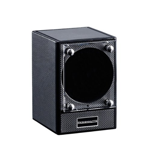 Designhütte Watch Winder Piccolo Carbon Fibre Finish- Sold WITHOUT POWER SUPPLY Perfect for Breitling Rolex Omega Tag Heuer Tissot Hamilton etc