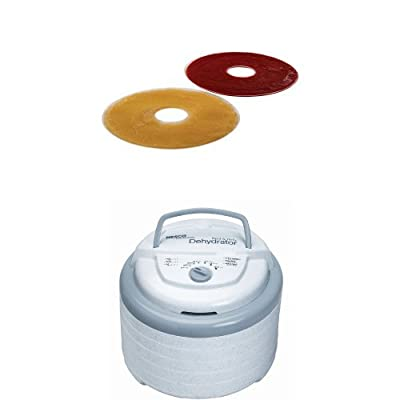 Nesco LSS-2-6 Fruit Roll Sheets and Snackmaster Pro Food Dehydrator Bundle by Nesco