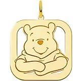 14K Gold Disney Winnie the Pooh Bear Charm 25mm New