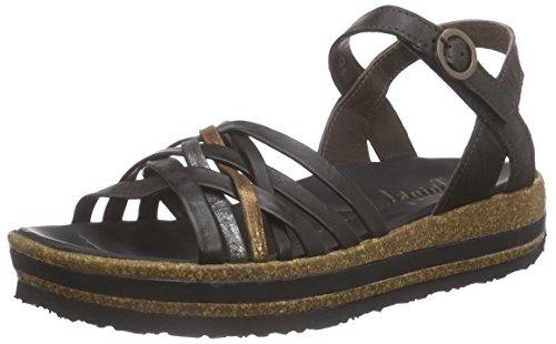 Think!Zega Sandale - Sandali con Cinturino alla Caviglia Donna , Nero (Nero (SZ/KOMBI 09)), 39