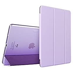 iPad Air 2 Case,ESR Yippee Color Series Smart Cover+Transparent Back Cover [Ultra Slim] [Light Weight] [Scratch-Resistant Lining] [Perfect Fit] [ for[2014 Release] iPad Air 2 Cover (Fragrant Lavender)