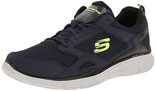 Skechers Equalizer Game Point - Zapatillas de skateboarding de Otra Piel para hombre, Azul (Bleu (Marine)), 44