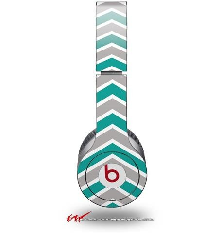 Zig Zag Teal And Gray Decal Style Skin (Fits Genuine Beats Solo Hd Headphones - Headphones Not Included)