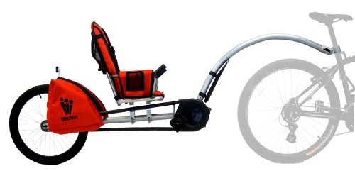 Cheapest Prices! Weehoo iGo Bicycle Trailer (Silver/Red)