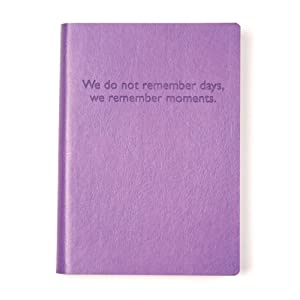 Purple Embossed Memories Leather Journal - Lined