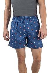 Chumbak Men's Cotton Shorts (8904218052726_CAMNSPBSAW2C7XL_X-Large_Blue)