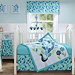 Peacock Blue 3 Piece Crib Bedding Set...