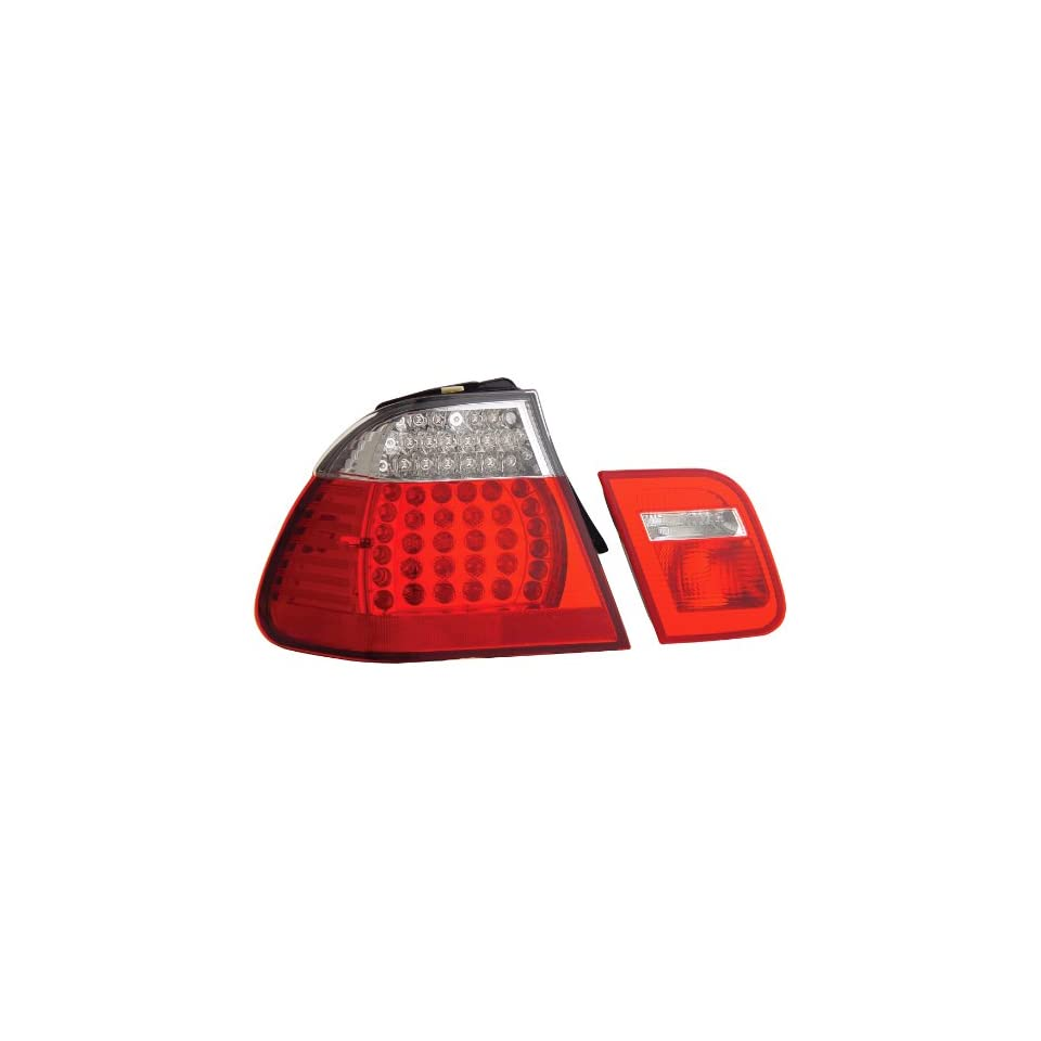 Anzo USA 321096 BMW Red/Clear LED Tail Light Assembly   (Sold in Pairs)