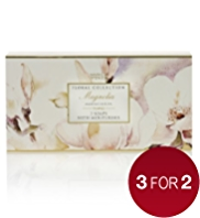 3 Floral Collection Magnolia Soaps