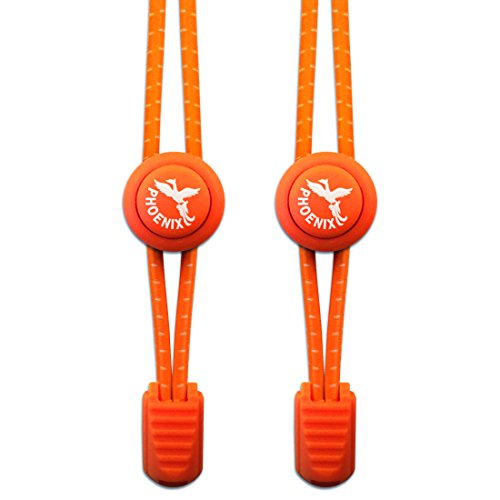 Phoenix-Fit, senza elastico, con sistema di chiusura facile da usare in vari colori. Perfetto per corridori, bambini e anziani g & di vita attivo, 1 paio Sunburst Orange