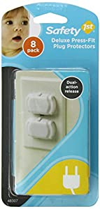 Safety 1st Deluxe Press Fit Outlet Plugs, 8-Count