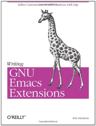 Writing GNU Emacs Extensions 1565922611 pdf
