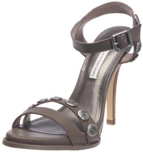 Calvin Klein Jeans Women's Eva Vacchetta Taupe Special Occasion Heels R3520 5 UK, 38 EU