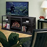 Dimplex Cornet TV Stand with Electric Fireplace in Black