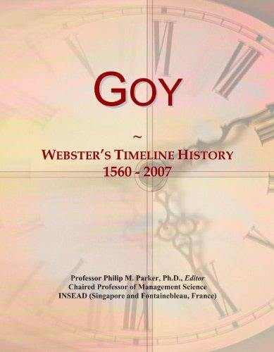 Goy: Webster's Timeline History, 1560 - 2007