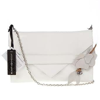 ROBERTA GANDOLFI Italian Made White Patent Leather Evening Bag Clutch