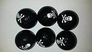 Skull and Cross Bone Golf Balls 6 Pak