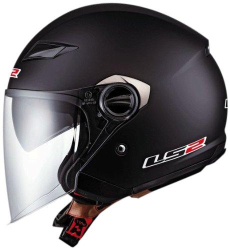 LS2 Helmets OF569 Open Face Motorcycle Helmet (Solid Matte Black, X-Large)