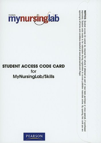 MyNursingLab/Skills without Pearson eText -- Standalone Access Card