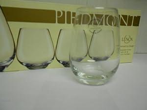 Lenox Piedmont Stemless Wine Set of 4 , Non-Lead Crystal