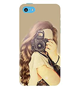 Vizagbeats Girl with Camera Back Case Cover for Apple iPhone 5::Apple iPhone 5S