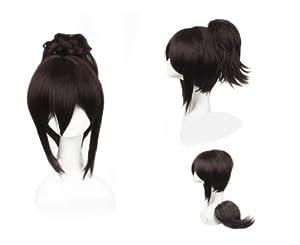 Cosplay peluca pelo marrón 527 traje Oriental