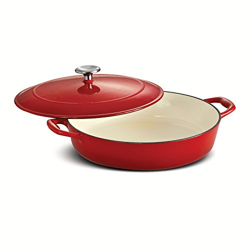 Tramontina Enameled Cast Iron Covered Braiser, 4-Quart, Gradated
