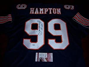 Autographed Dan Hampton Uniform - arkansas Jsa coa - Autographed NFL Jerseys by Sports+Memorabilia