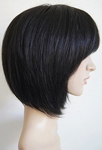 ... Bob Straight Human Hair Wig - Black by TANGDA - Wigs for Women Over 50