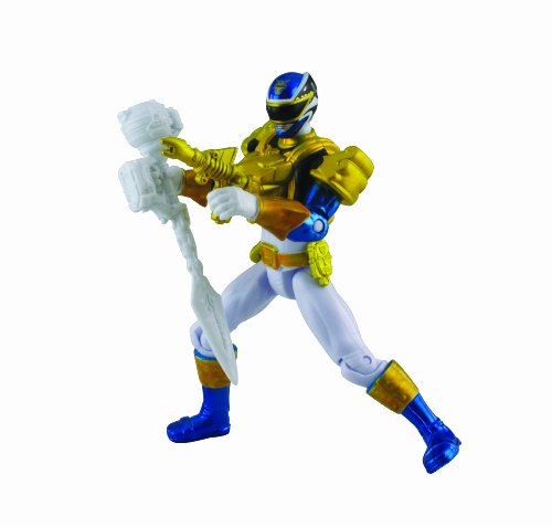 Power Rangers, Megaforce, Metallic Force Ultra Blue Ranger Action Figure, 4 Inches