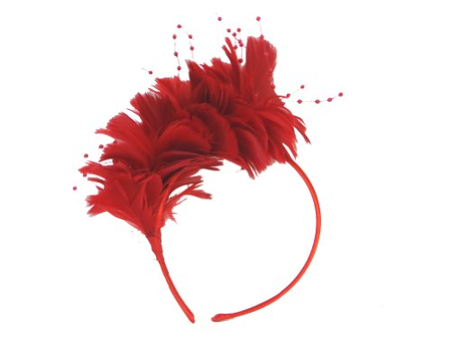 Red Hat Society Radiant Red Feather Headband (The Red Band Society compare prices)