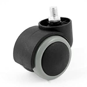 10mm Threaded Stem 50mm Dia Plastic Wheel