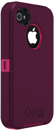 Otterbox Defender Series for iPhone 4 & 4S - 1 Pack - Retail Packaging - Peony Pink/Deep Plum