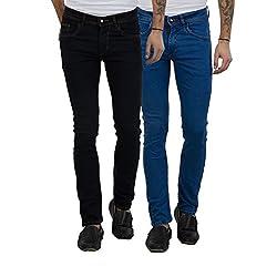 Cladien (Since 1958), Cotton Lycra, Men Jeans Combo, Pack of 2 (28)