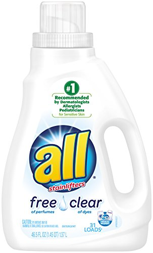 All Ultra Free Clear Liquid Laundry Detergent, 46.5