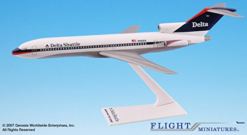 Flight Miniatures Delta Shuttle Airlines 1997 Boeing 727-200 1:200 Scale Display Model (Delta Airlines Model compare prices)