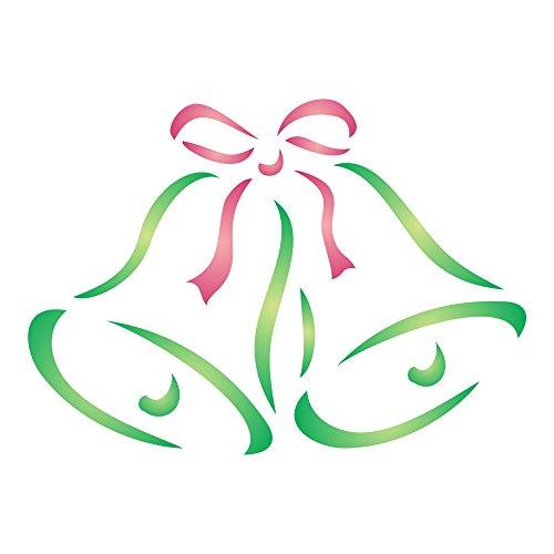 weihnachtsglocken wiederverwendbar schablonen f r weihnachten karten oder dekorationen beste. Black Bedroom Furniture Sets. Home Design Ideas