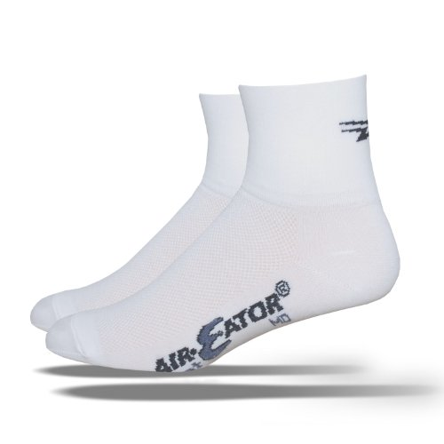 DeFeet Aireator Deline Socks,White,Large