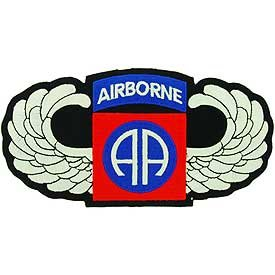 US Army Large Jacket or Shirt Stitch Patch - 82nd Airborne Wings XL 6