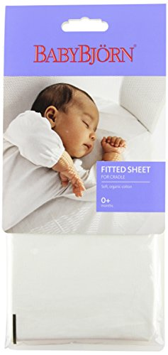 BABYBJORN Fitted Sheet for Cradle, White
