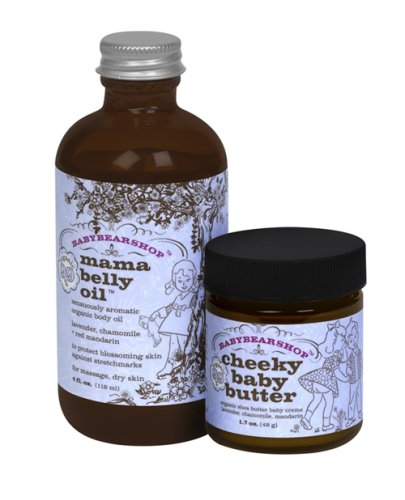 Babybearshop Organic Mama Belly Oil + Cheeky Baby Butter Set front-72128