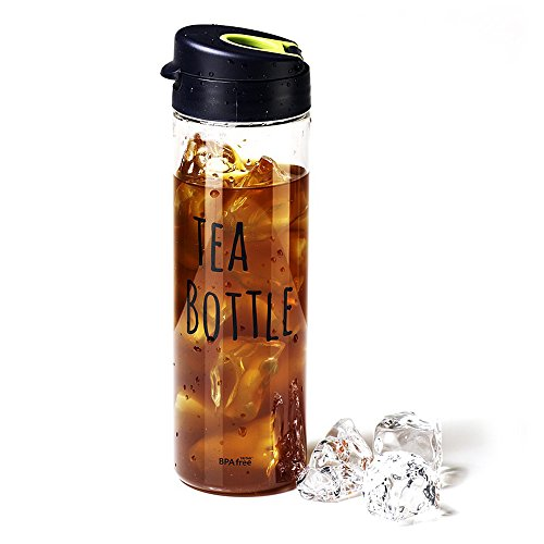 Black THE BOTTLE Transparent Bucket Pail Water Bottle BPA Free