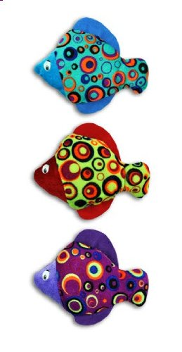 "Colorful Plush Fish 8"" - Set of 3"